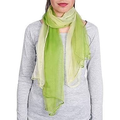 Foulard mousseline soie Vert pistache dégradé  Amazon.fr  Vêtements ... 46c4ed8525f