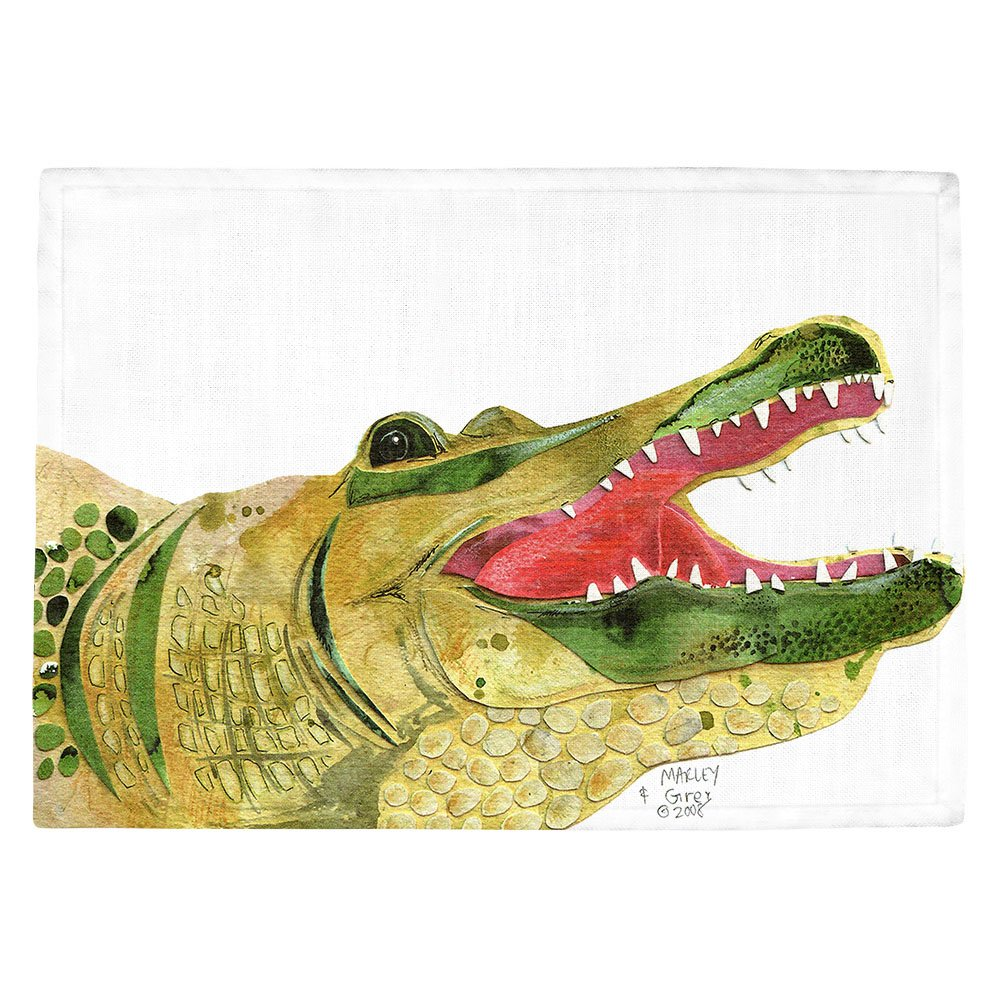DIANOCHEキッチンPlaceマットby Marley Ungaro – Alligator Set of 4 Placemats PM-MarleyUngaroAlligator2 Set of 4 Placemats  B01EXSJ7U8
