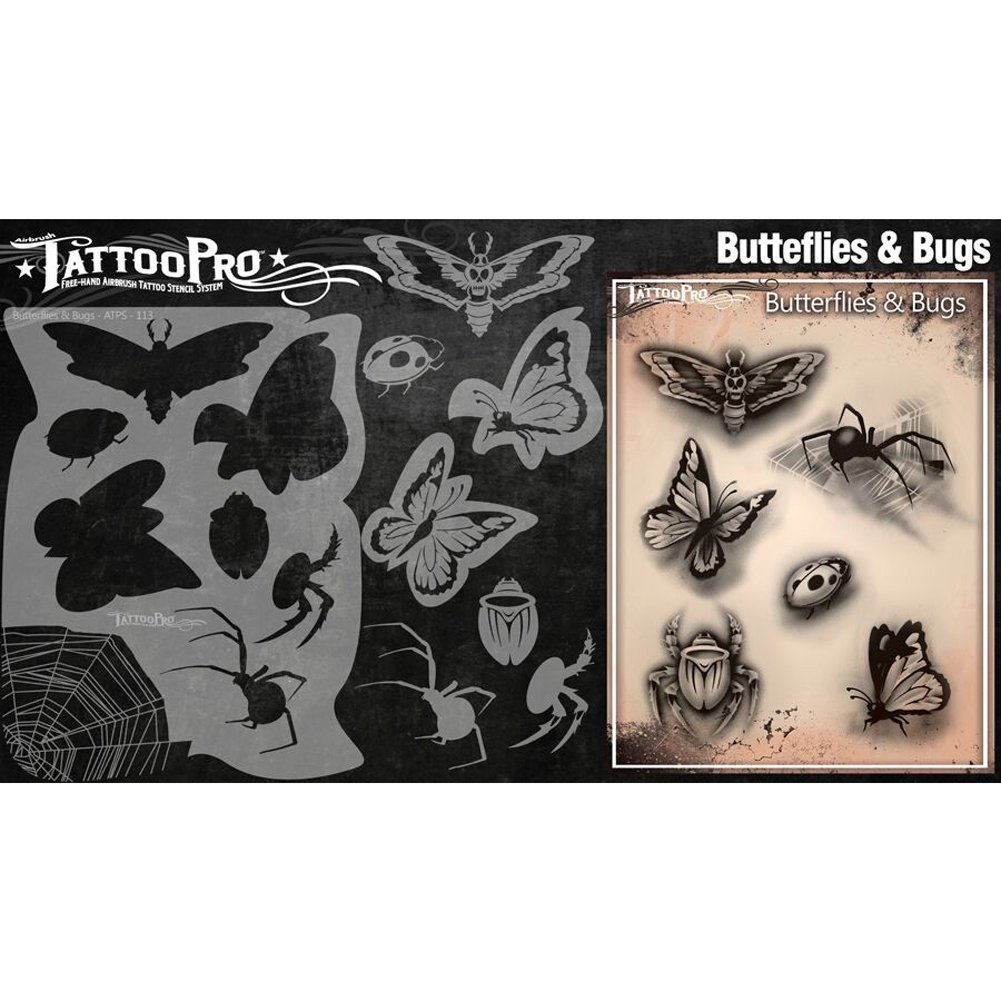 Tattoo Pro Stencils Series 2 Butterflies & Bugs 7c6748 - ppckpe