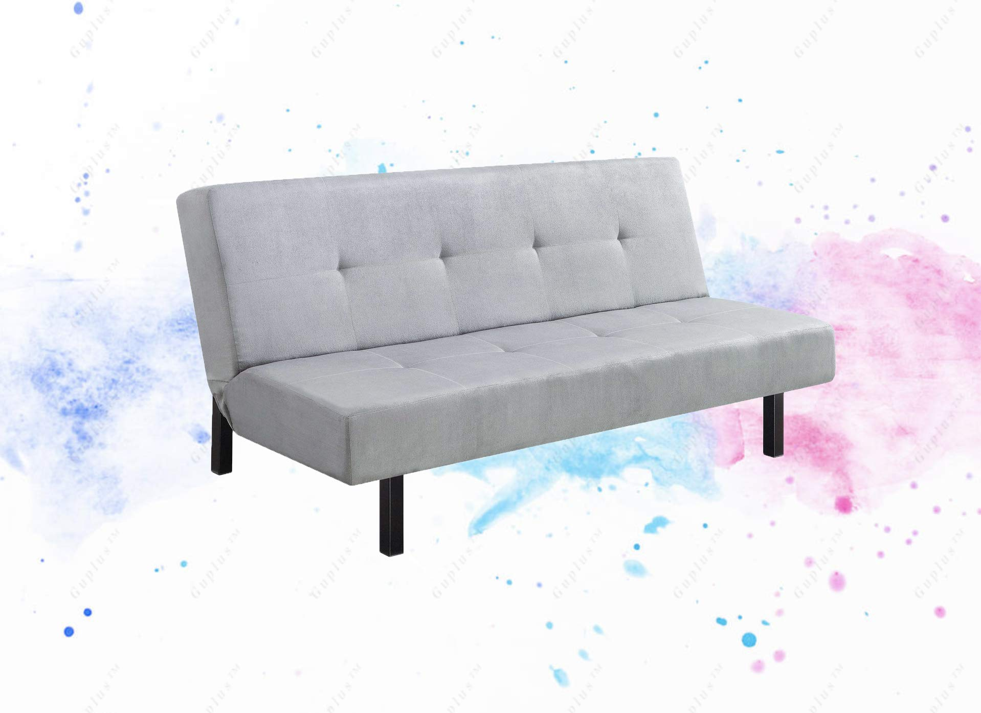 GUPLUS-65'' 3-Position Tufted Futon, Multiple Colors The futon Comes in a Plush Microfiber Upholstery That is to fit Any Room in Your Home, from The Living Room, Family by GUPLUS