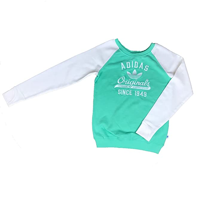 Amazon Shirt 38 Femme Menthe Adidas Sweat Pull Vert YxqwO60
