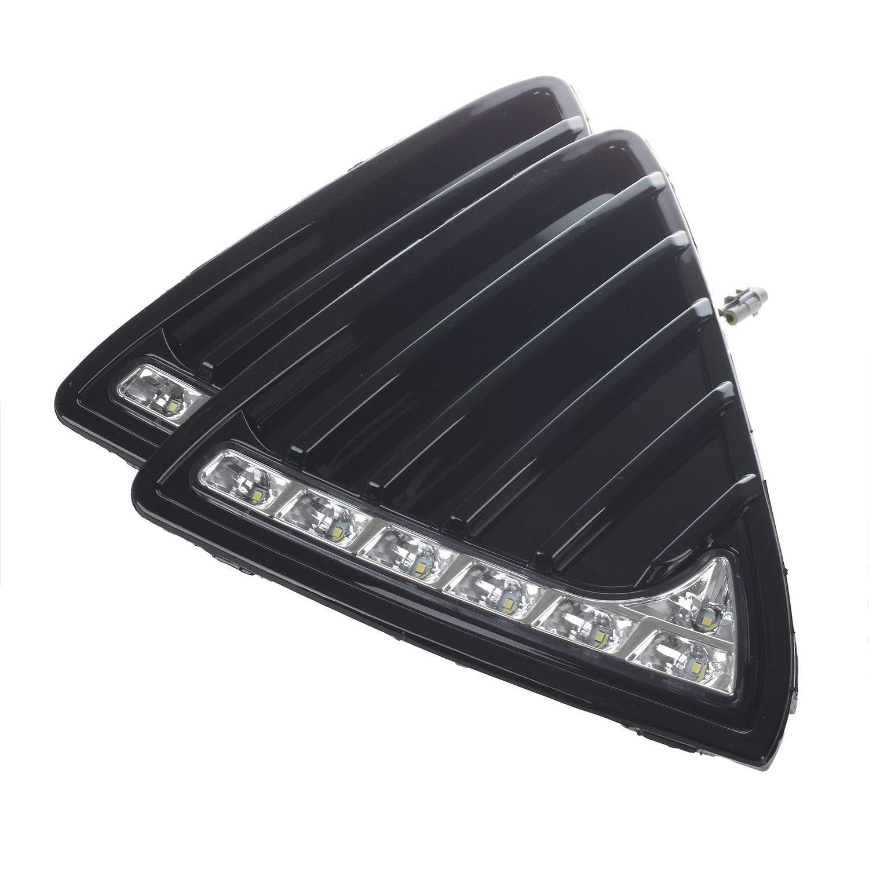 wansosuper 2X por Auto del LED Luces de circulaci/ón Diurna para Ford Focus Principal de la l/ámpara DRL Niebla 2011-2014 MA141 Blanca