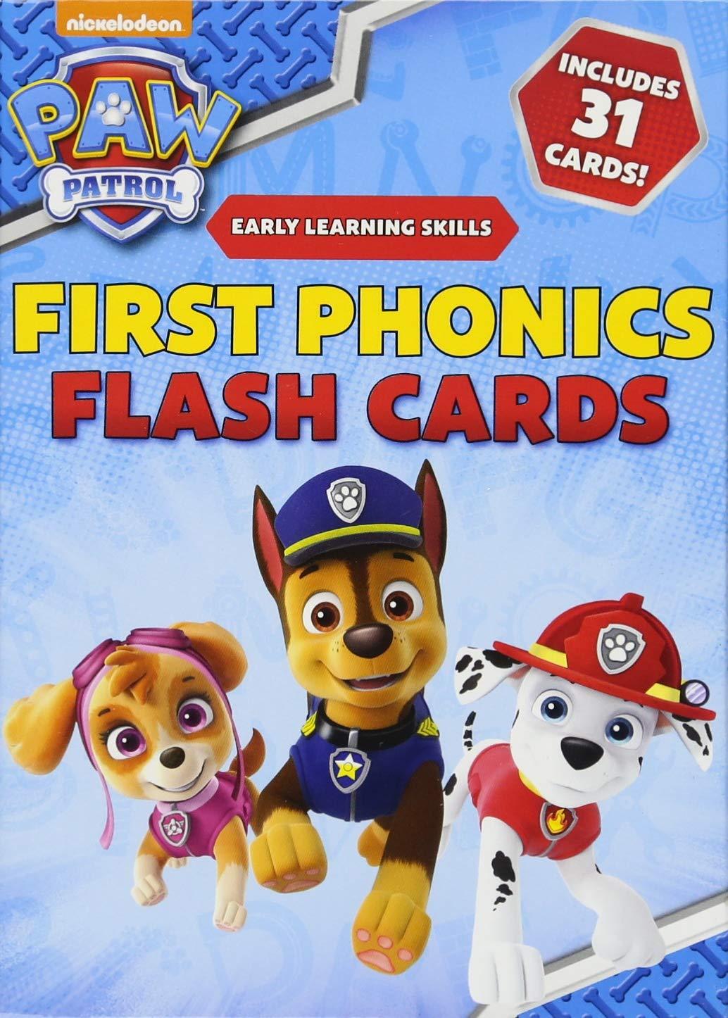 PAW Patrol First Phonics Flash Cards