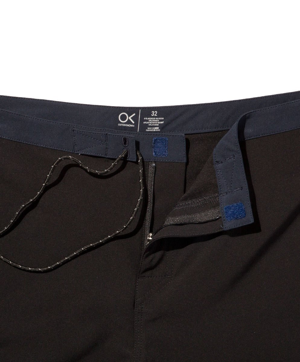 Outerknown Men's Modern Scallop Trunk, 32, Bright Black by Outerknown (Image #4)