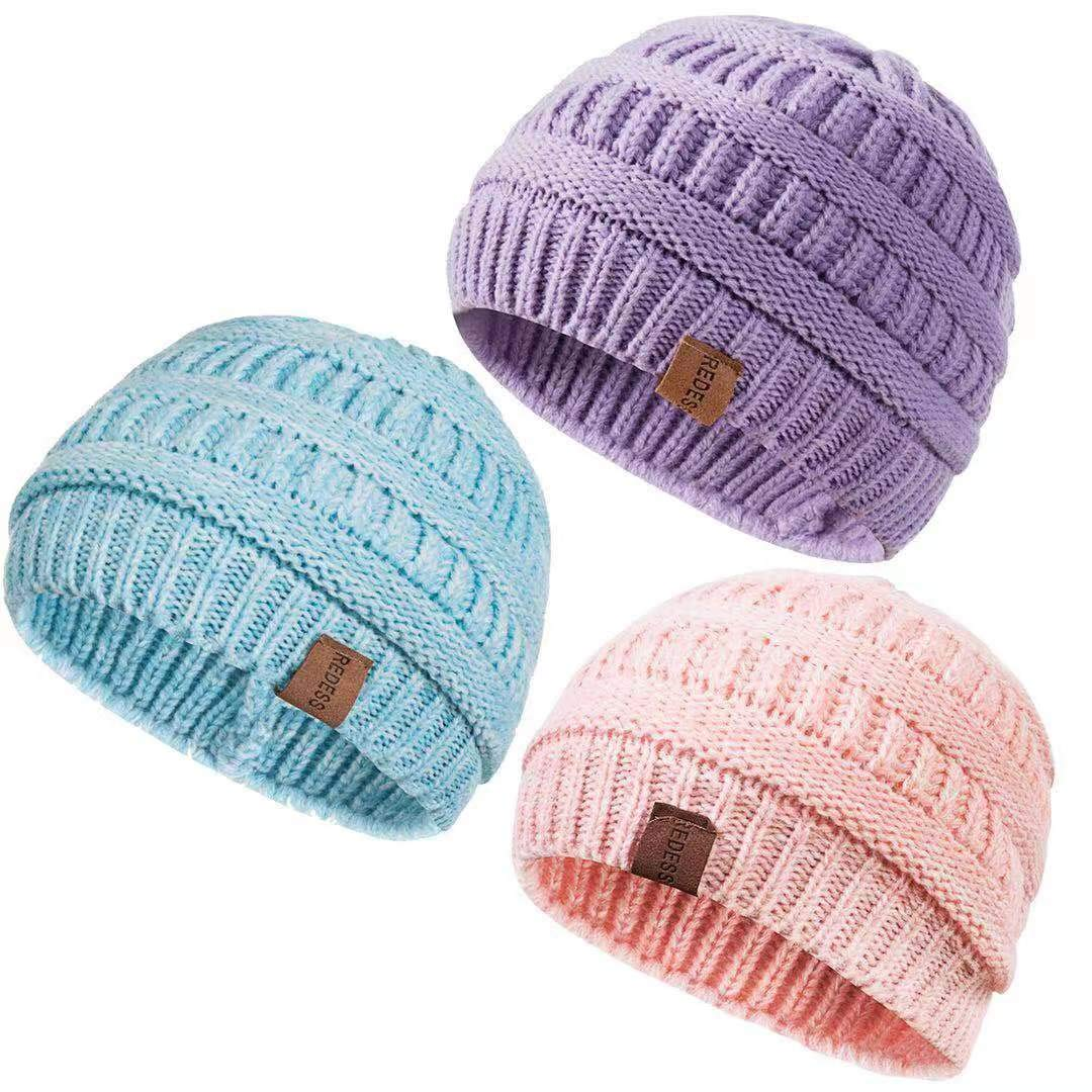 Kids Winter Warm Beanie with Scarf Knitted Hat Soft Lined.YR.Lover