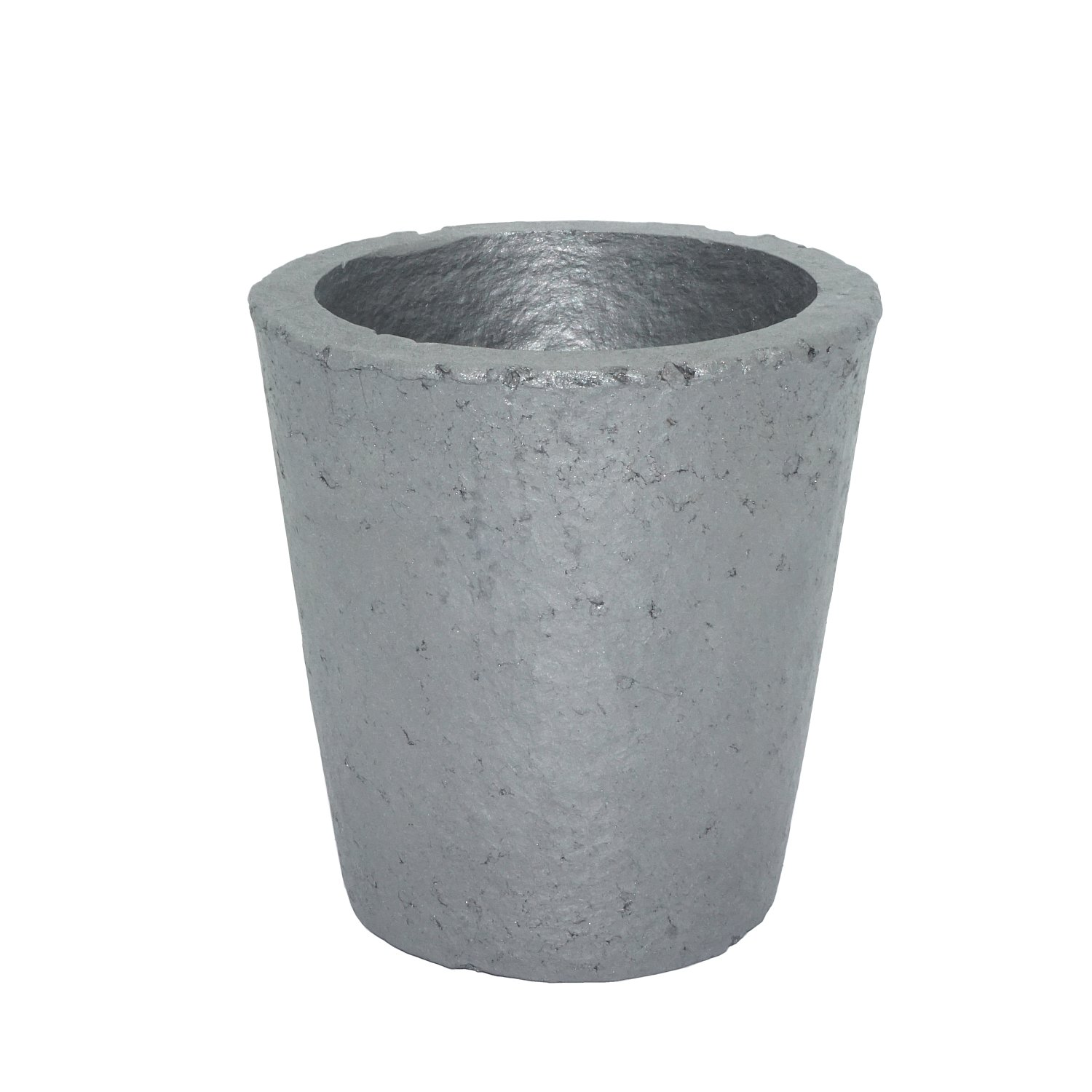 4# Foundry Silicon Carbide Graphite Crucibles Cup Furnace Torch Melting Casting Refining Gold Silver Copper Brass Aluminum for 3.5KG Copper or 1.2KG Aluminum