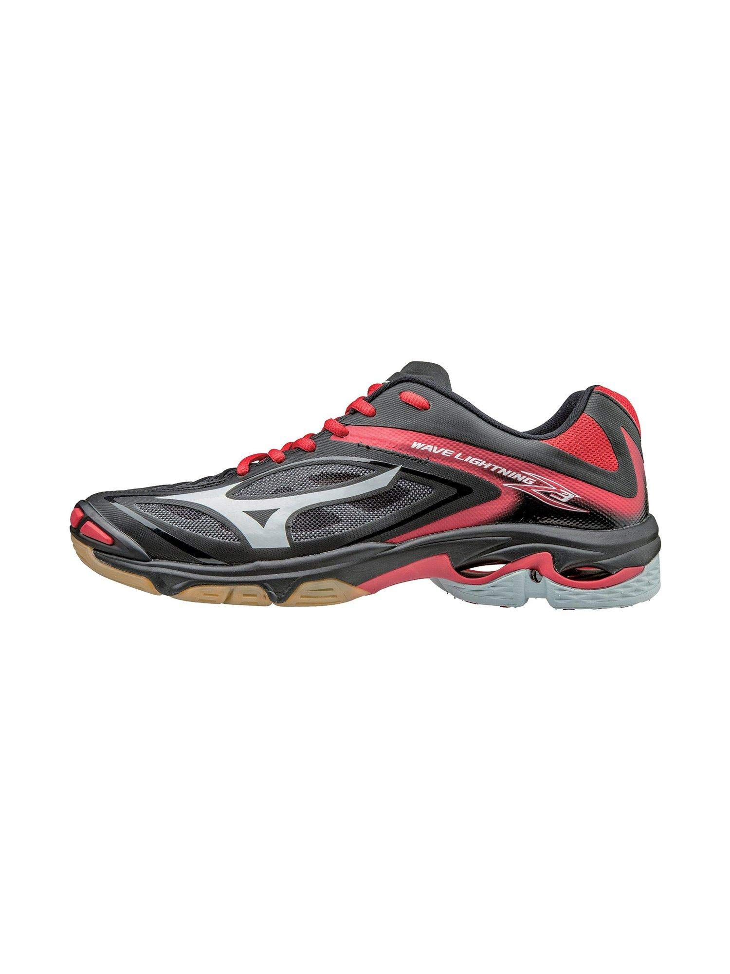 Mizuno Women's Wave Lighting Z3 Volleyball Shoe,Black/Red,8.5 B US