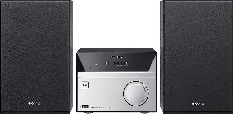Sony CMTSBT20.CEL - Sistema de Audio (12 W, CD, FM, Radio, USB, Bluetooth), Negro