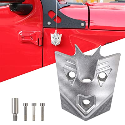 MFC Radio Antenna Base Cover for 2007-2020 Jeep Wrangler JK/JL (Aluminum,Chrome): Automotive