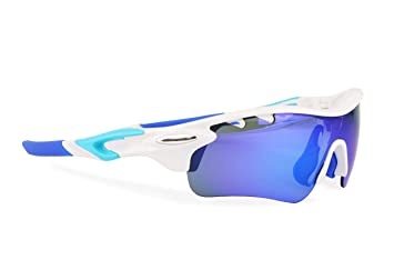 Gafas ciclismo polarizadas con 5 lentes intercambiables UV 400. Gafas deportivas, Running trail running, ciclismo BTT, para Hombre y Mujer (Blanco): ...