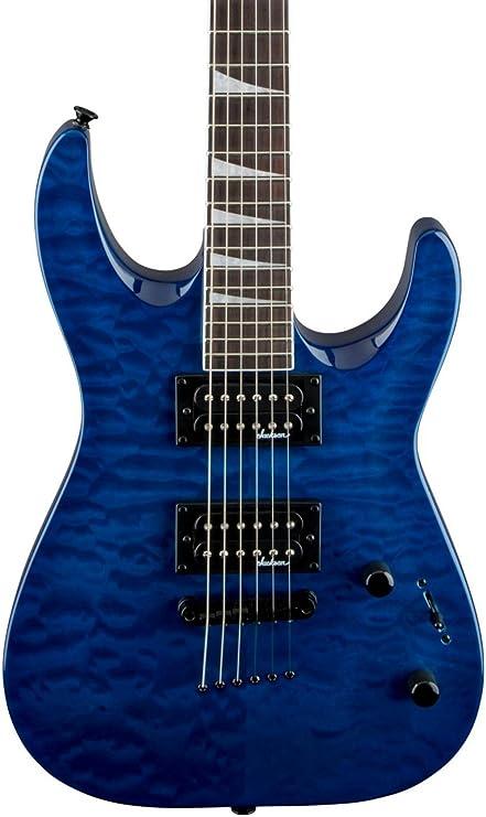 Jackson JS32TQ Dinky Arch Top Transparent Blue Guitarra Electrica