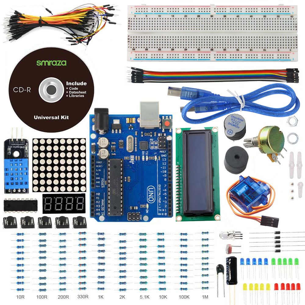 10 Best Arduino Starter Kits For Beginners 2019 Updated Components Shown Below To Build A Flashing Light Circuit Complete The Comprehensive List Of Included In Smraza Kit Is Given