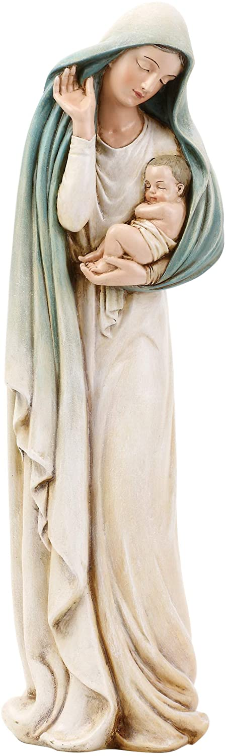 "Roman Joseph's Studio Madonna with Child Figure, Renaissance Collection, 12"" H, Resin and Stone, Religious Gift, Decoration, Collection, Durable, Long Lasting"