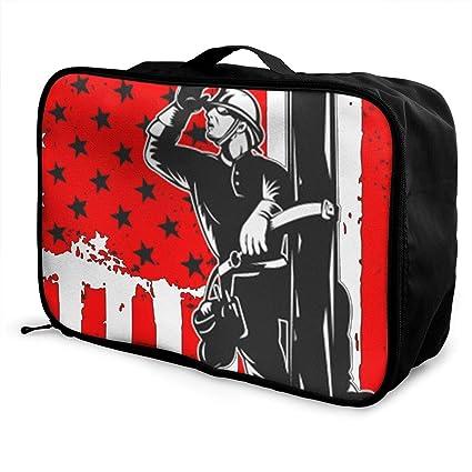 Amazon.com  Haoshun WY American Lineman Travel Duffel Bag Fashion ... fb758a766b347