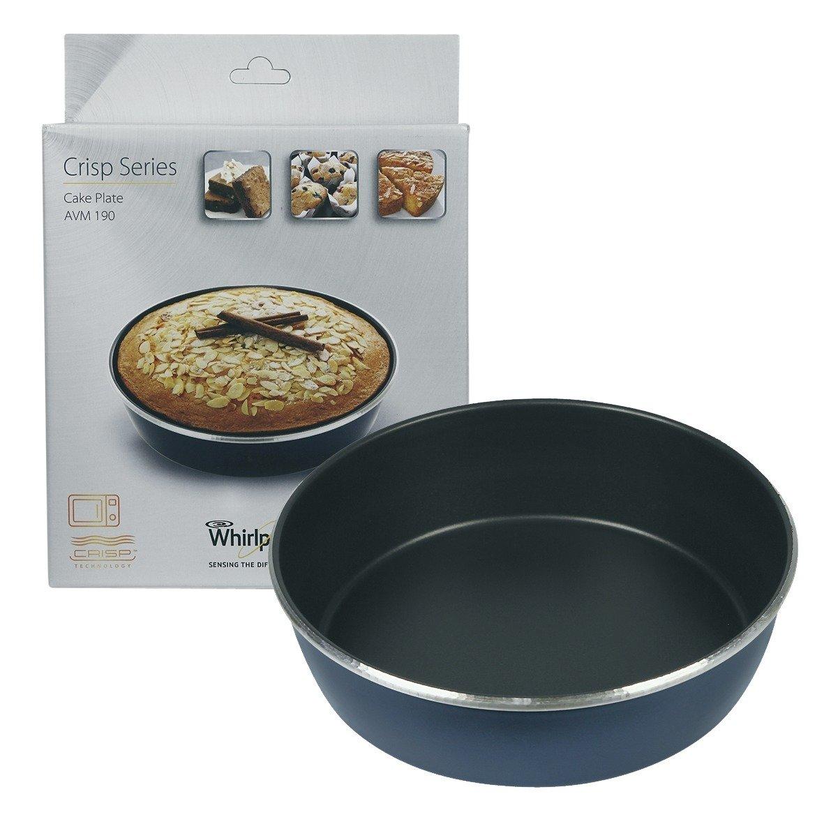 Piatto crisp, Stampo per dolci, diametro 21 cm, alto e 5,5 cm, avm190 per forno a microonde whirlpool il10/wh