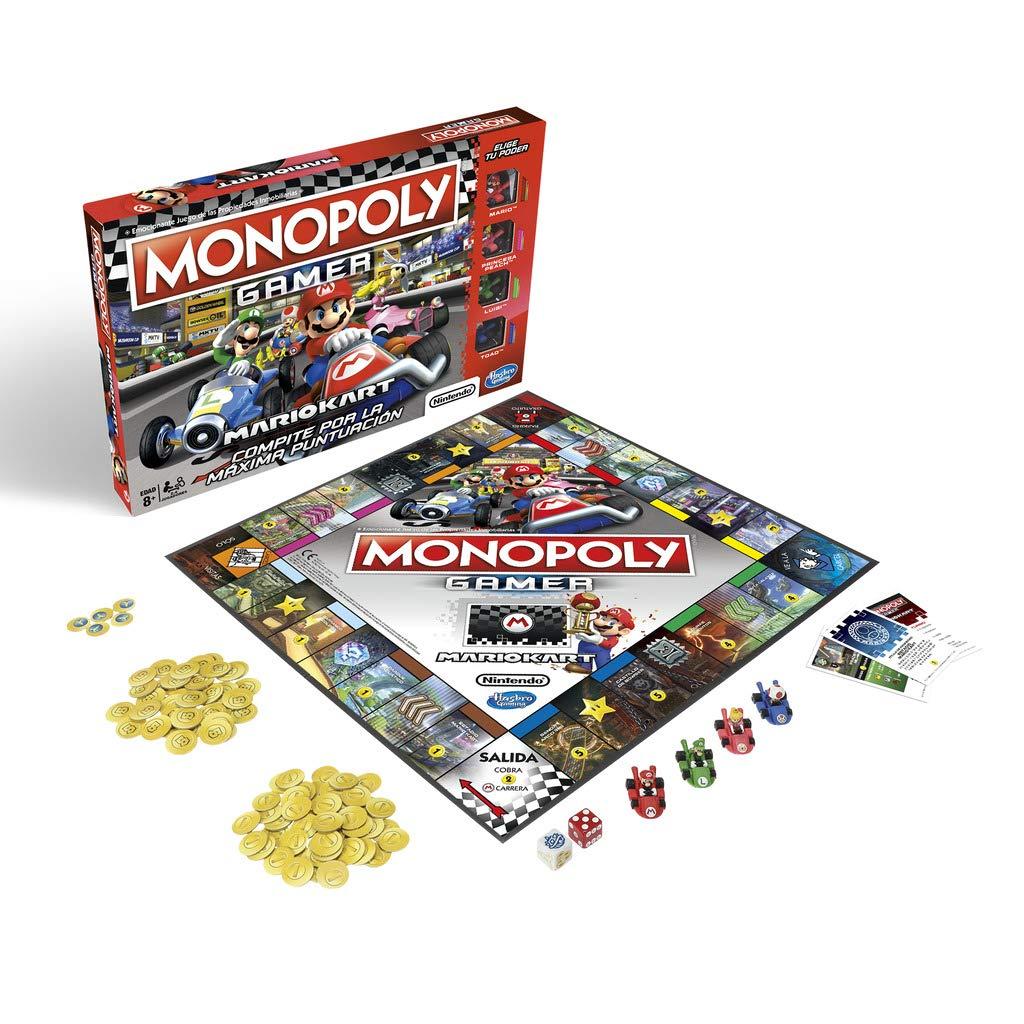 Monopoly- Gamer Mario Kart (Versión Española), Multicolor (Hasbro E1870105)
