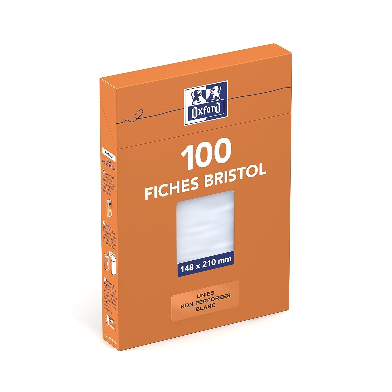 Oxford 100101449 Non perforato di fogli Carta bristol formato A5 bianco 100 fogli colore