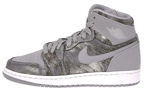 Nike Air Jordan 1 Retro HI Prem GG, Zapatillas de Deporte para Mujer, Gris/Plateado/Blanco (Wolf Grey/Mtllc Silver-White), 42 EU: Amazon.es: Zapatos y ...