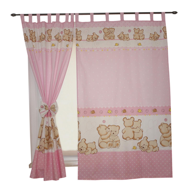 ca 155x95 cm TupTam Childrens Room Tab Top Curtains with Tiebacks Animals Gray