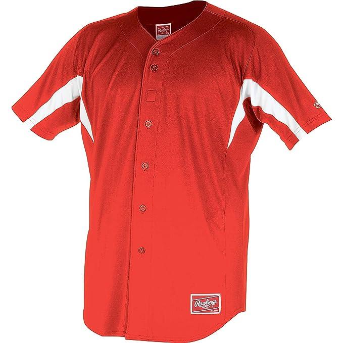 Amazon.com: Rawlings plena botón del Hombre yji77 Jersey ...