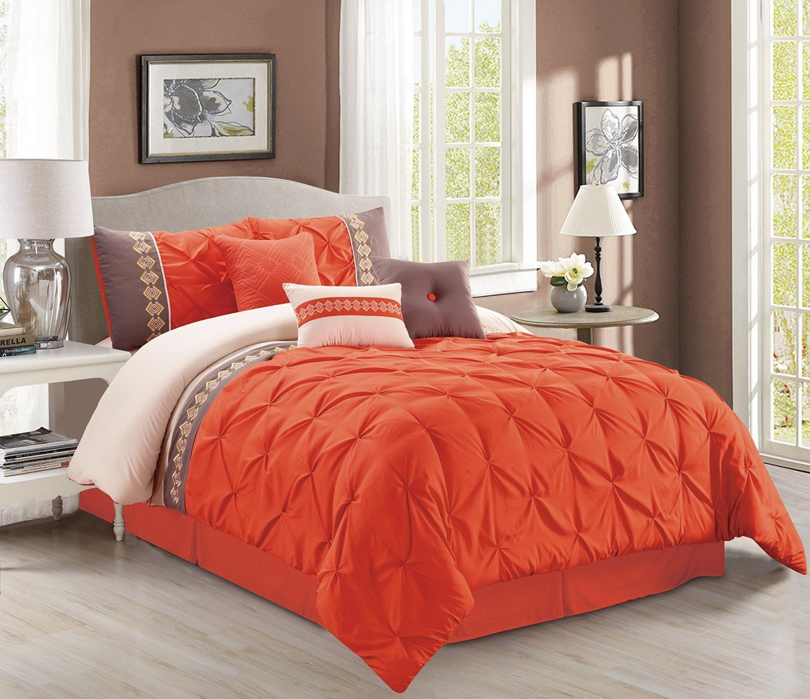 Orange bedding sets beautiful earthy decor for any - Burnt orange bedroom accessories ...