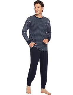 Hawiton Pijamas Hombre Invierno Manga Larga Pijama para Hombre de ...