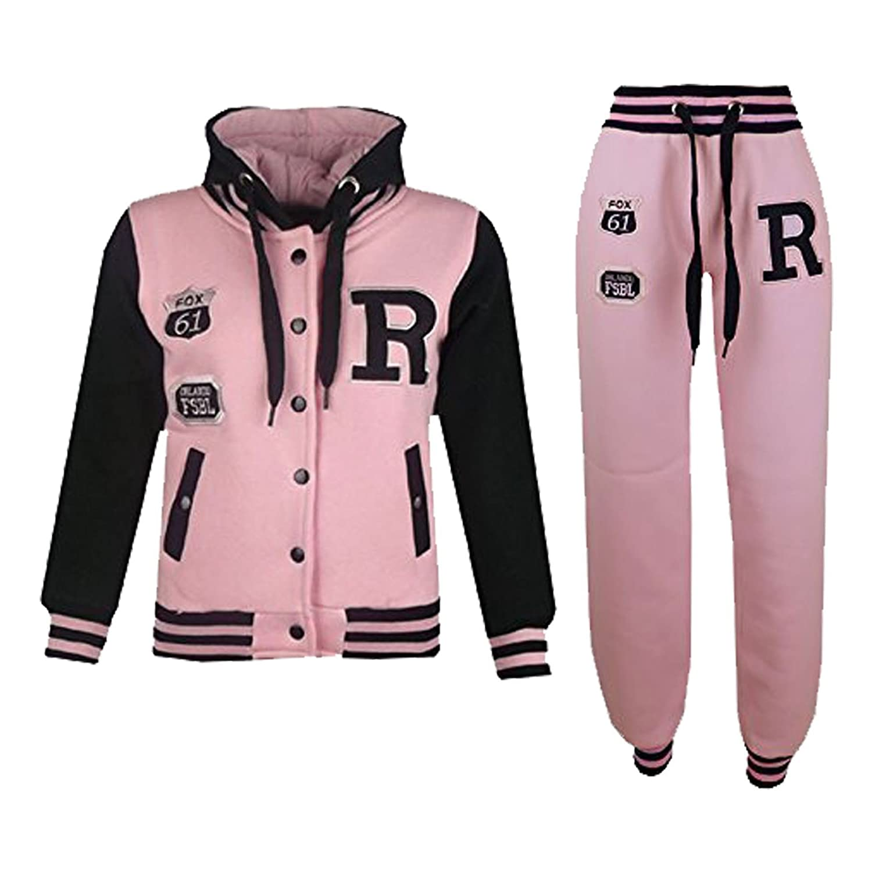 ed3983e6 A2Z 4 Kids® Kids Girls Boys Baseball Tracksuit NYC FOX Jacket & Trouser  Sports Hoodie Bottom Joggers Age 2-13 Years
