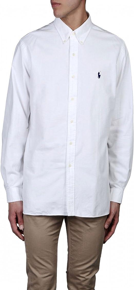 Polo Ralph Lauren - Camisa formal - para hombre Bianco 40: Amazon ...