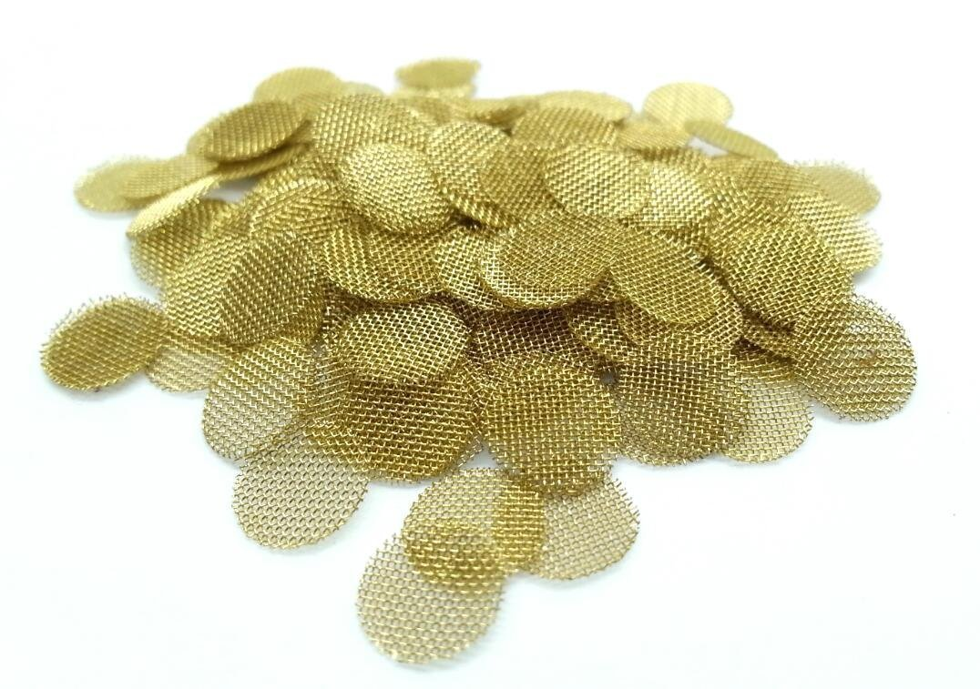 ABG (100) 3/8 Inch Brass Screens Pipe Screen Bowl Filters for Smoking Tobacco Pipes ABG Marketplace