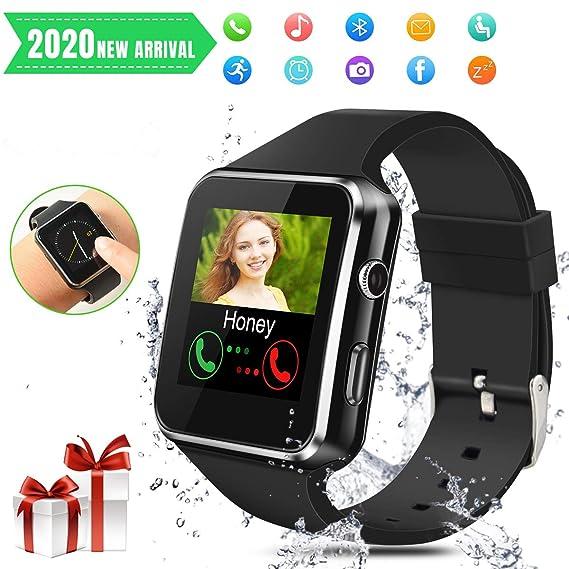 Smartwatch Bluetooth,Reloj Inteligente con Whatsapp Smartwatches con Cámara Pantalla táctil