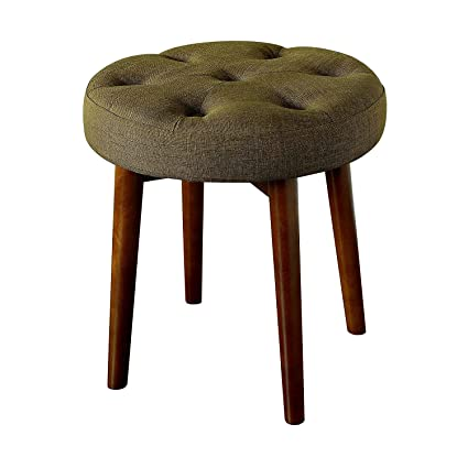 Amazon.com: EFD Small Tufted Stool Padded Round Sitting Step ...