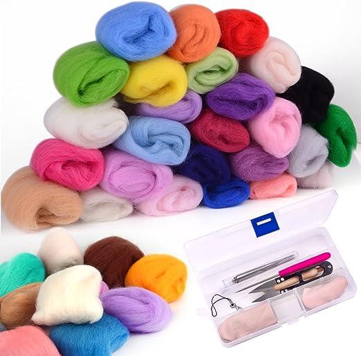 zealor 36 colores aguja fieltro lana Set con aguja Kit de ...