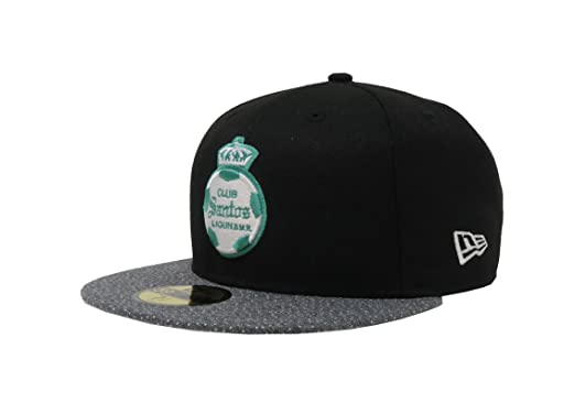 f349c928ea67f New Era 59Fifty Hat Santos Laguna Soccer Club Liga MX Official Black Gray  Vize Cap