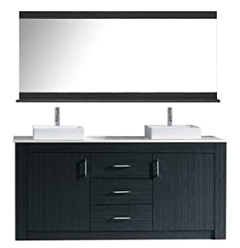 Virtu Usa Tavian 72 Inch Double Sink Bathroom Vanity Set In Grey W