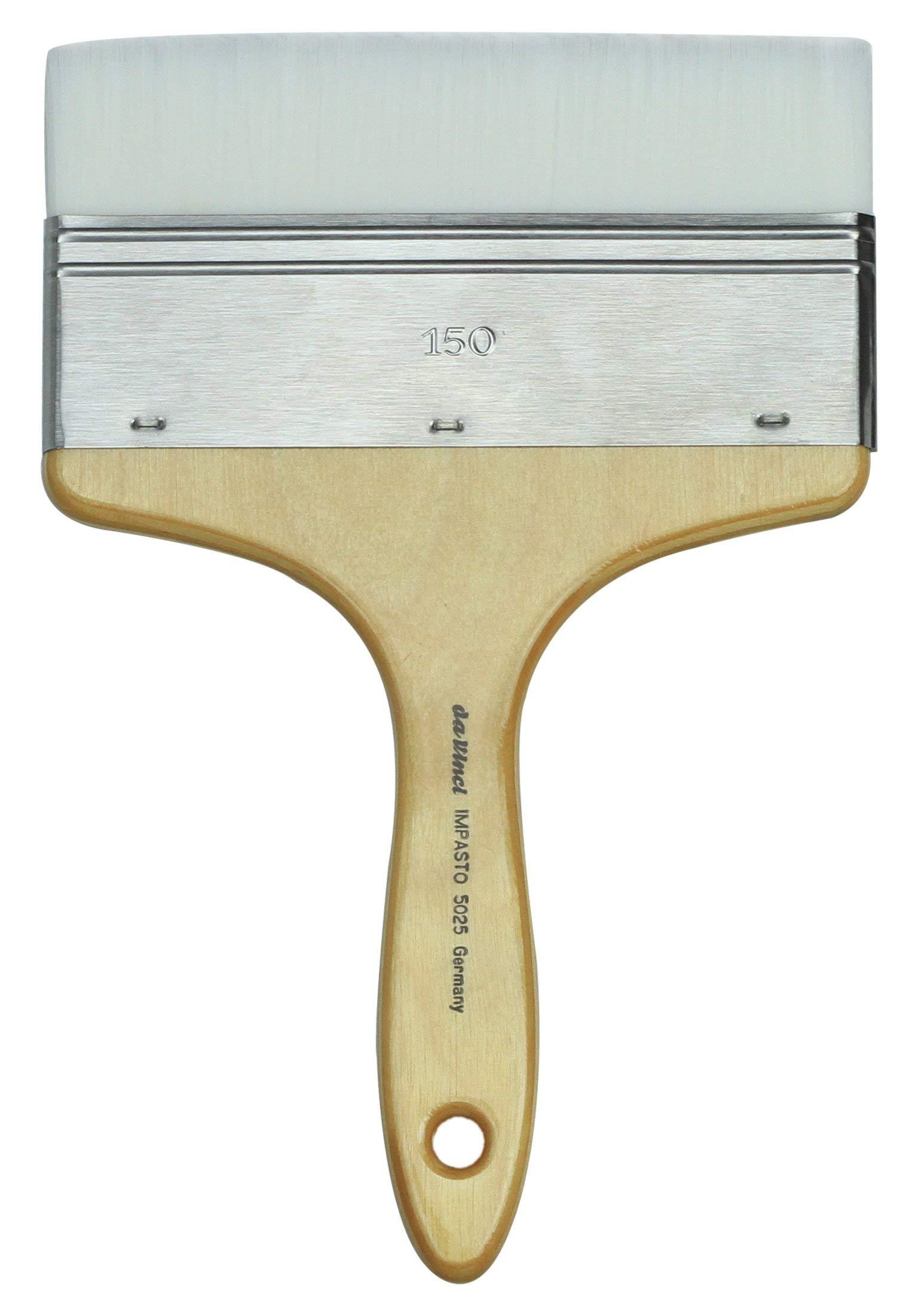 da Vinci Oil & Acrylic Series 5025 Impasto Paint Brush, Mottler Extra Stiff White Synthetic, Size 150