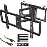 MOUNTUP TV Wall Mount, Full Motion TV Mount with Sliding Design, Easy for TV Centering on Wall with 47-90 Inch Flat or Curved