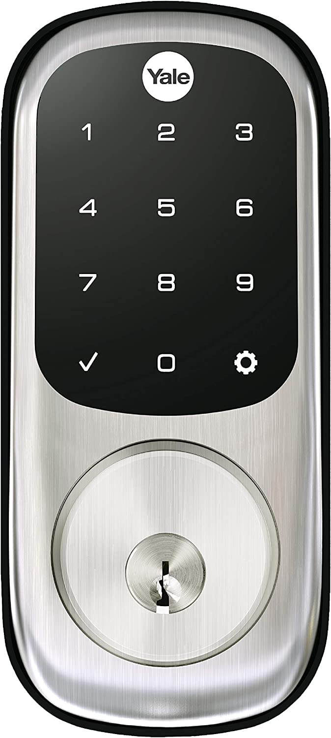 Yale Assure Lock Touchscreen with Wi-Fi and Bluetooth Deadbolt - Works with Amazon Alexa, Google Assistant, HomeKit, Airbnb and More - Satin Nickel
