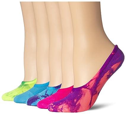 steve madden jambières jambières madden  's mesh délavé foot pack chaussettes, néon cd1251