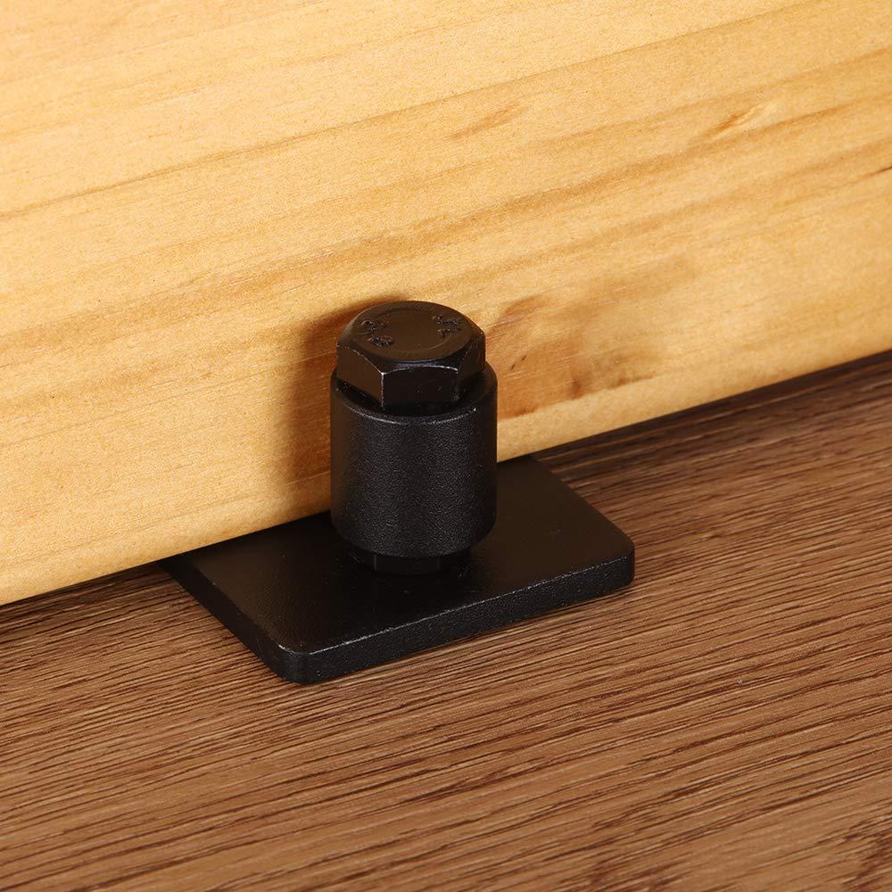 2 Pcs Adjustable Stay Roller - Wall Mount System Flat Bottom Design Hardware LEDATIC Heavy Duty Sliding Barn Door Floor Guides 2 Pcs, Full kit Fits All Sliding Barn Door