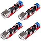 Icstation DC to DC Voltage Regulator Step Down Power Supply Buck Converter Module 6-40V to 5V 3A Dual USB Port Output (Pack of 4)