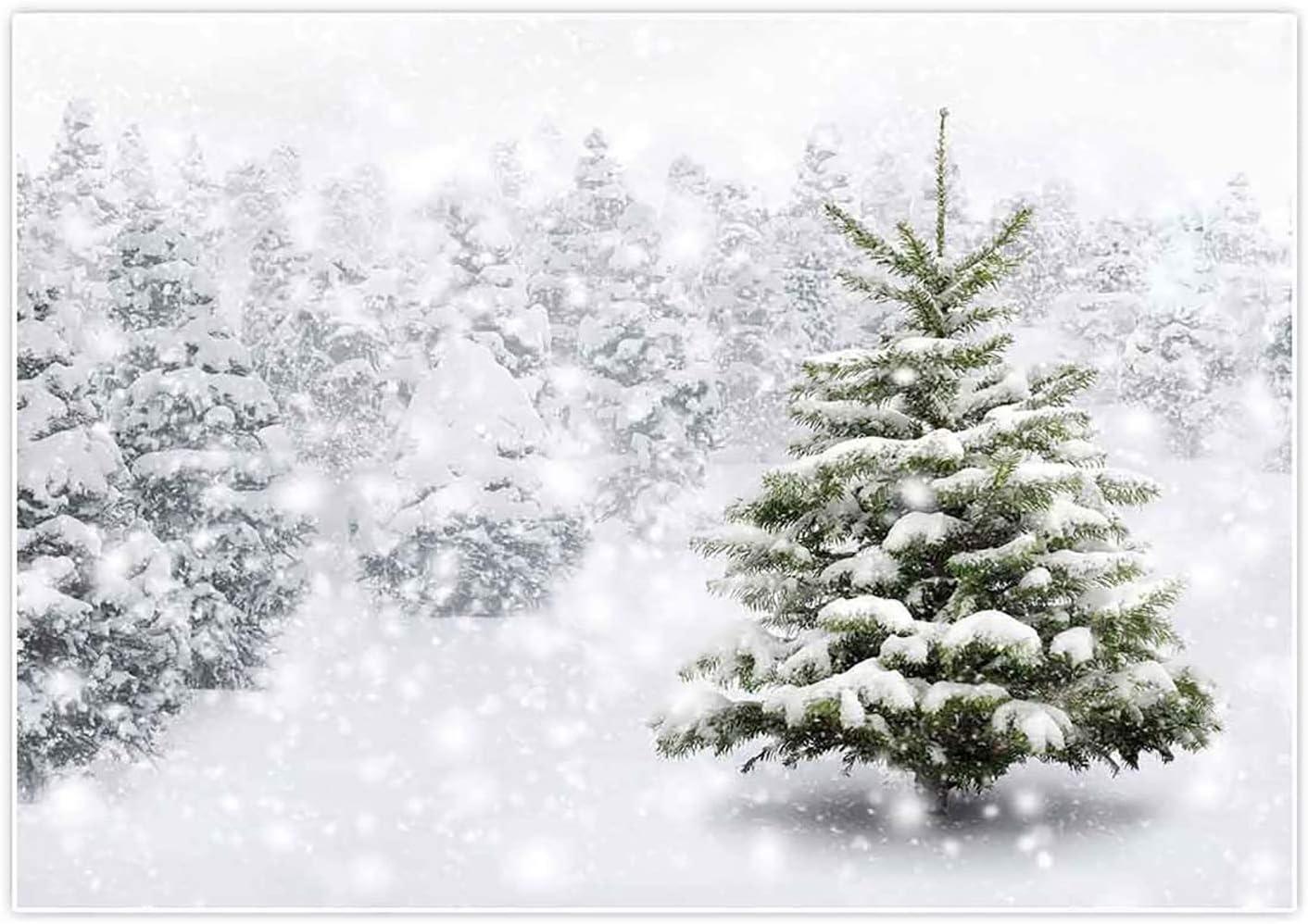 Allenjoy Invierno Bosque Fotografía telón de fondo Navidad Navidad Año Nuevo Fondo Nieve Árboles Decoraciones Fiesta Bebé Ducha Copo de Nieve Fotos Apoyos Suministros 2x1.5 m