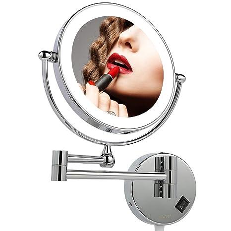 Specchi Ingranditori Per Bagno Con Luce.Homever Specchio Ingranditore Con Luce Led Bagno 7x Ingrandimento