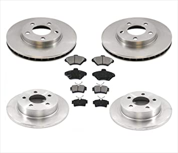 Rear Rotors w//Metallic Pad OE Brakes 1994-2004 Mustang Base /& GT
