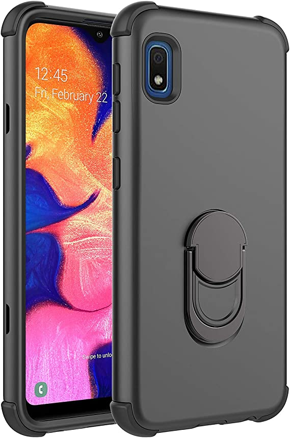 Clear E-Began Phone Case for Samsung Galaxy A10E Ultra Thin Shockproof Impact Resist Durable Case Full-Body Protective Rugged Bumper Cover with Built-in Screen Protector