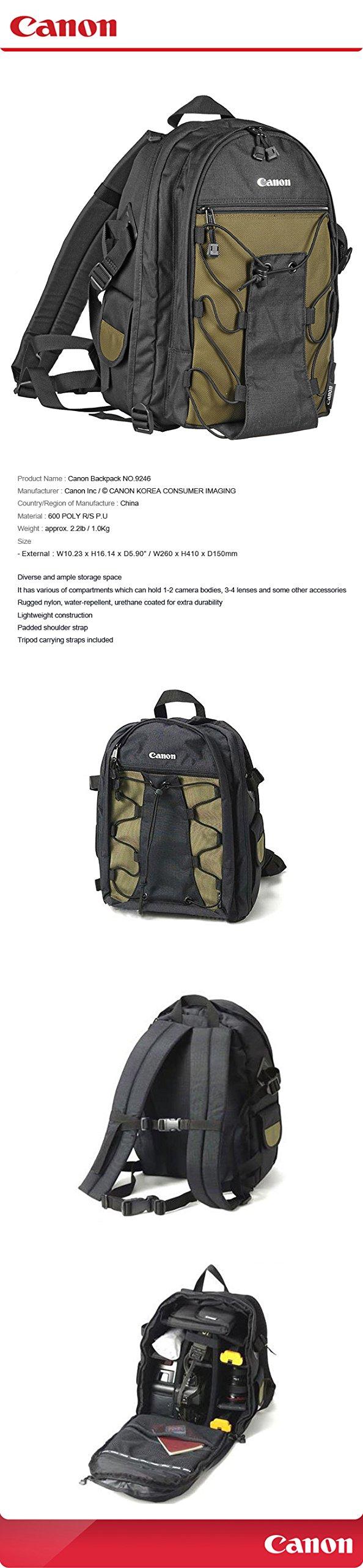 CANON D-SLR RF Mirrorless Backpack Bag 200EG/9246 for Lens EOS 5D Mark III 7D Mark II 6D 5D 70D 60D 50D 500D 550D 600D 650D 700D 750D by Yves