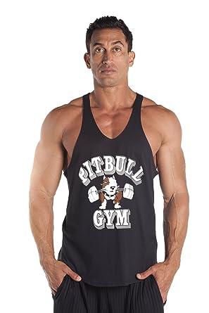daaf128f0f7d4 Pitbull Gym Barbells Stringer Tank Top  Amazon.ca  Clothing ...