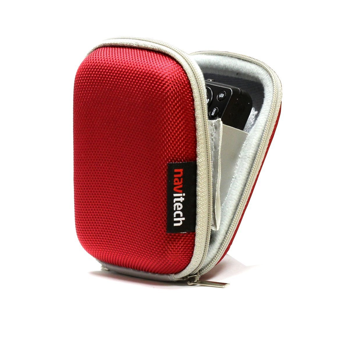 Navitech Red Water Resistant Hard Digital Camera Case Cover Compatible With The Kodak Pixpro FZ53