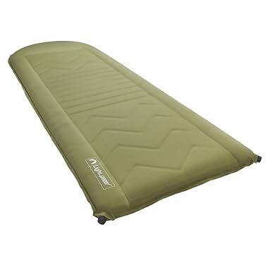 Lightspeed Outdoors Self Inflating Sleep Pad (Green/Brown)