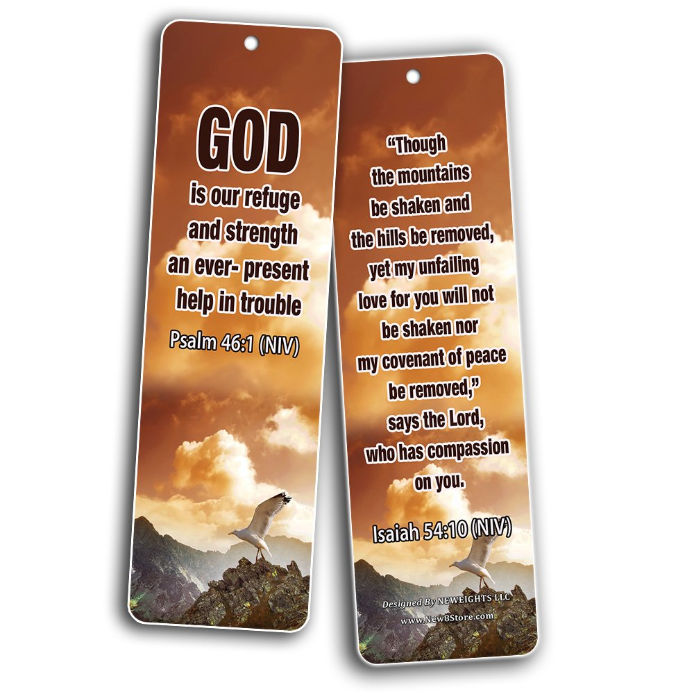 Popular Bible Verses About God's Love Bookmarks Cards (60-Pack) - Assorted Bulk Pack - John 3:16 Psalm 46:1 - Gift Ideas for Sunday School, Youth Group, Church Camp, Bible Study, Baptism, Homeschool by NewEights (Image #7)