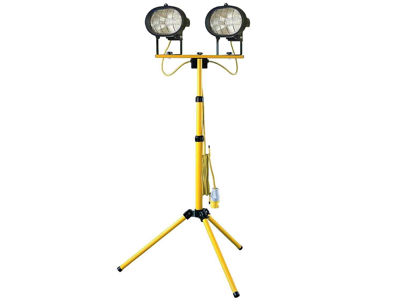 Faithfull SL1000CTL Sitelight Twin Adjustable Stand 1000 Watt 110 Volt